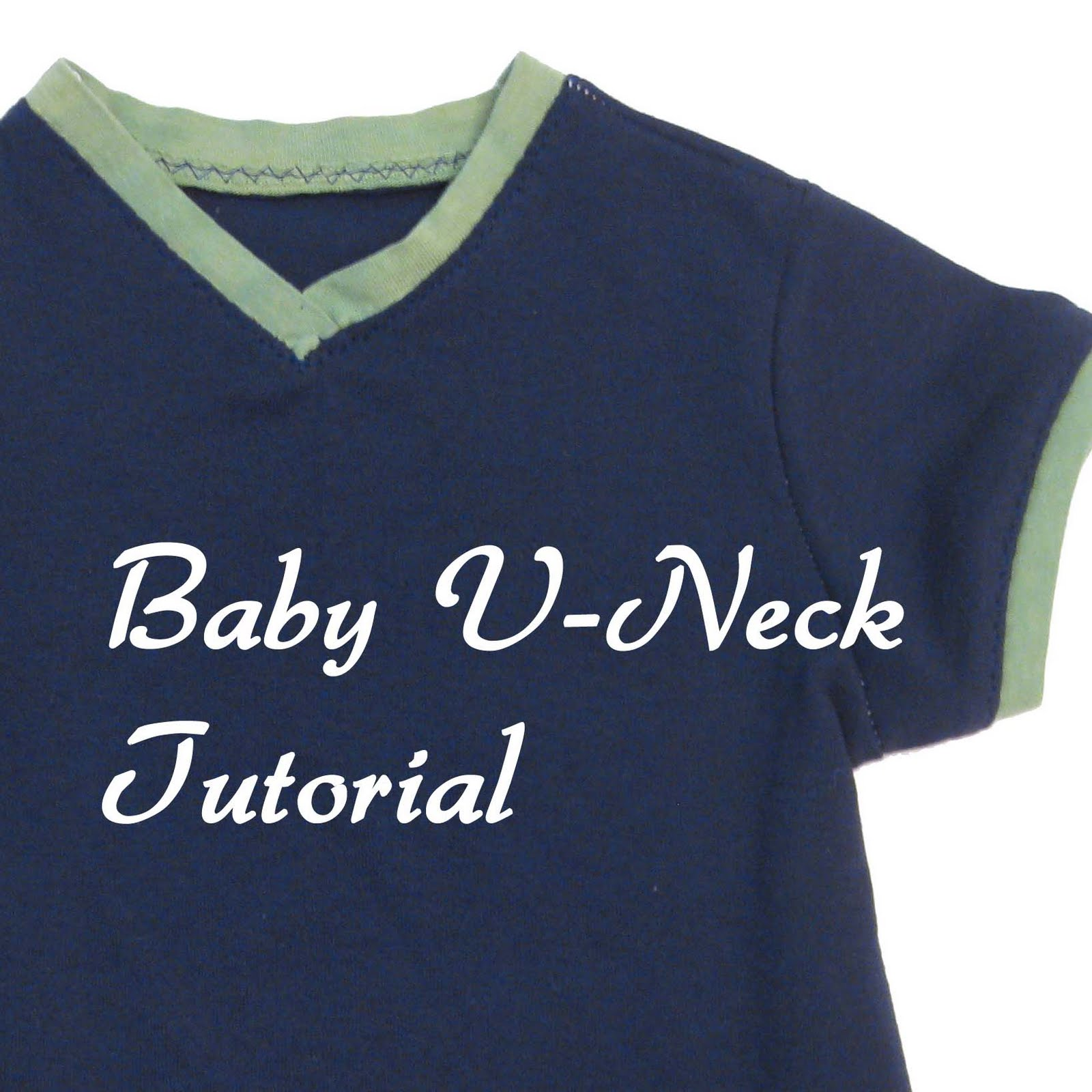 Baby V-Neck Tutorial - Sewing with Knits Mondays - Melly Sews