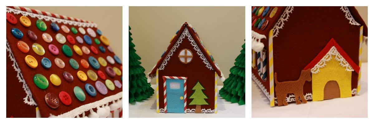 Tales from a happy house.: A Felt Gingerbread House on fudge box, ginger box, brownies box, cookie dough box, halloween box, gumbo box, rose box, church box, cupcake house box, biscotti box, pig roast box, candy box, text box, fireplace box, ornament box, icing box, panettone box, giveaway box, butterfly box, tiramisu box,