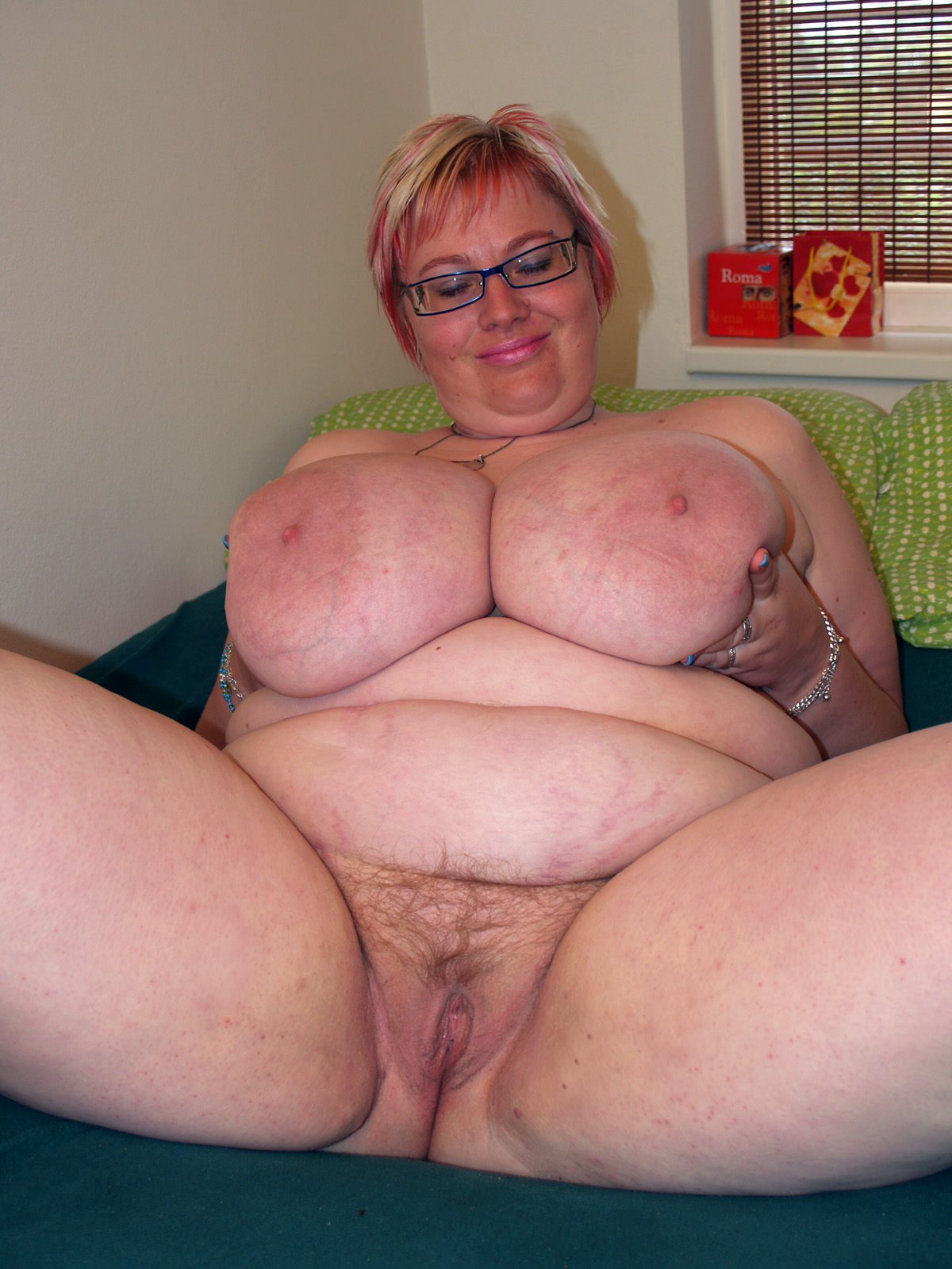 image Fat granny enjoying a cock pov