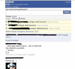 Merubah Facebook Jadi Bahasa Jawa
