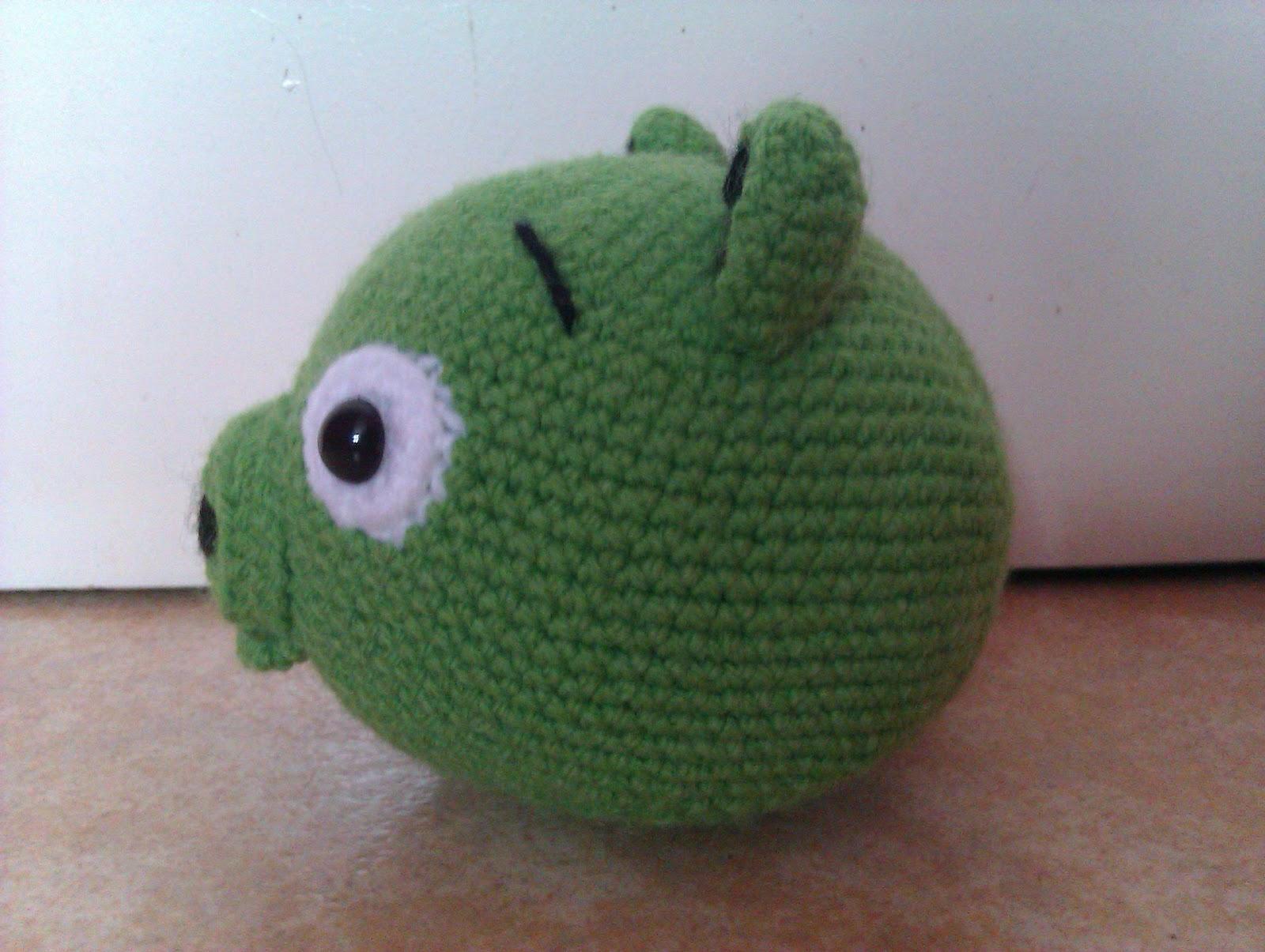 Amigurumi Green Pig : Gnes wonderful world: Angry Birds Green Pig