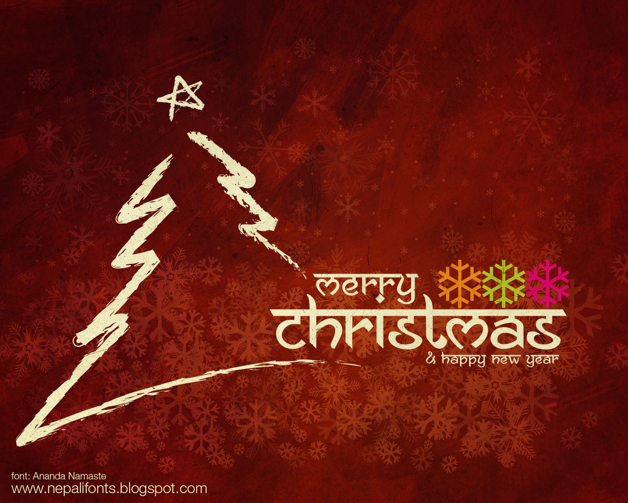 Merry Christmas & Happy New Year Greetings wallpapers 2012