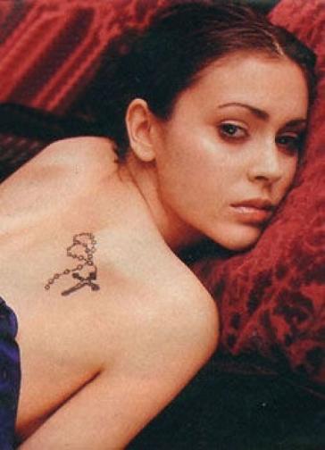 Alyssa Milano Tattoos - YouTube