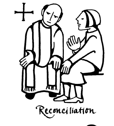 Sacrament of reconciliation coloring pages and clipart pictures ...