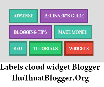 Labels cloud widget Blogger