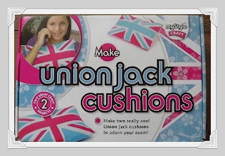 Union Jack cushion, craft, project, fun, craft activity, childrens craft, Interplay,review