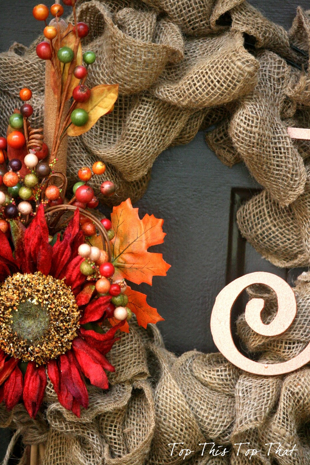 The Easiest Fall Burlap Wreath Tutorial Duke Manor Farm