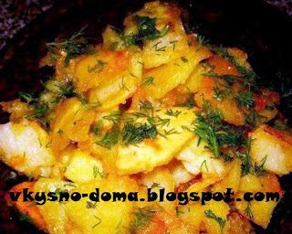 Румяный и хрустящий картофель