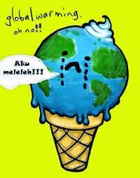 gambar diatas menceritakan tentang bumi yang menangis akibat terjadinya globakl warming oleh karena itu marilah kita berupaya untuk melestarikan lingkungan
