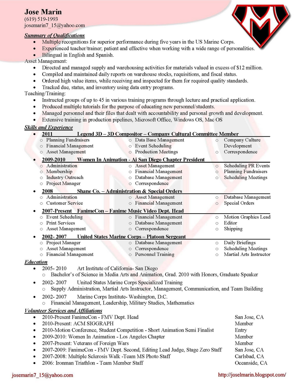 video production invoice template - Videographer Resume Template