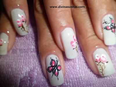 unhas decoradas outubro rosa by rafaela1
