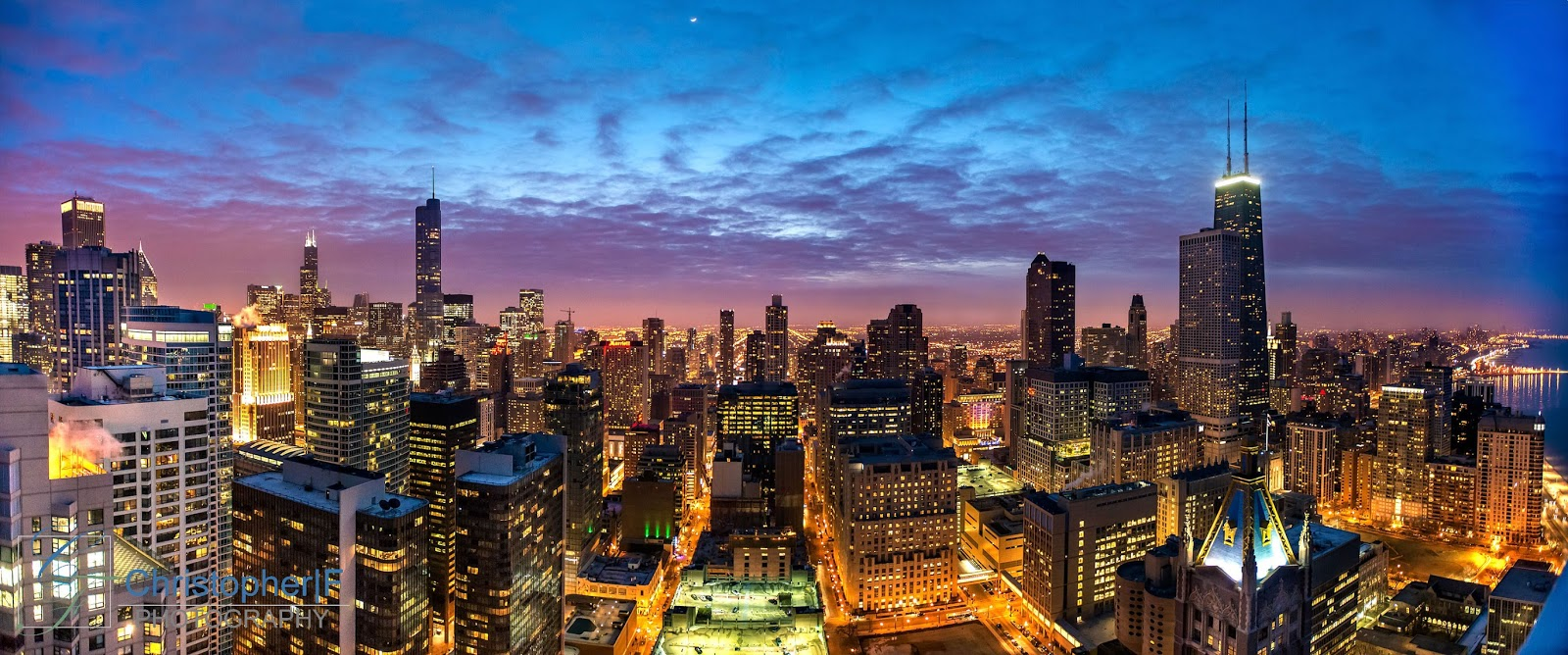 Chicago Cityscape at Blue Hour