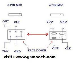 6 pin mic to 4 pin