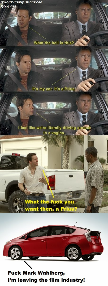 Mark Wahlberg Prius meme from The Other Guys & 2 Guns