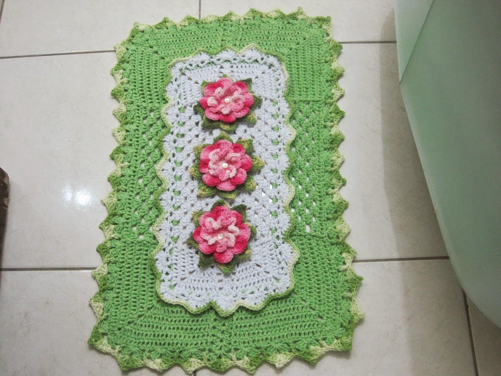 Helen's artes em Crochê: JOGO BANHEIRO COM BICO DUPLO #9D2E4C 1600 1200
