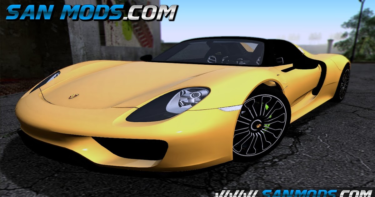 gta sa porsche 918 spyder 2014 san mods mods gta san andreas iv e v. Black Bedroom Furniture Sets. Home Design Ideas
