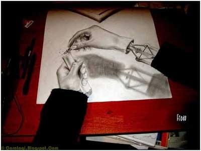 Lukisan Pensil 3D 4