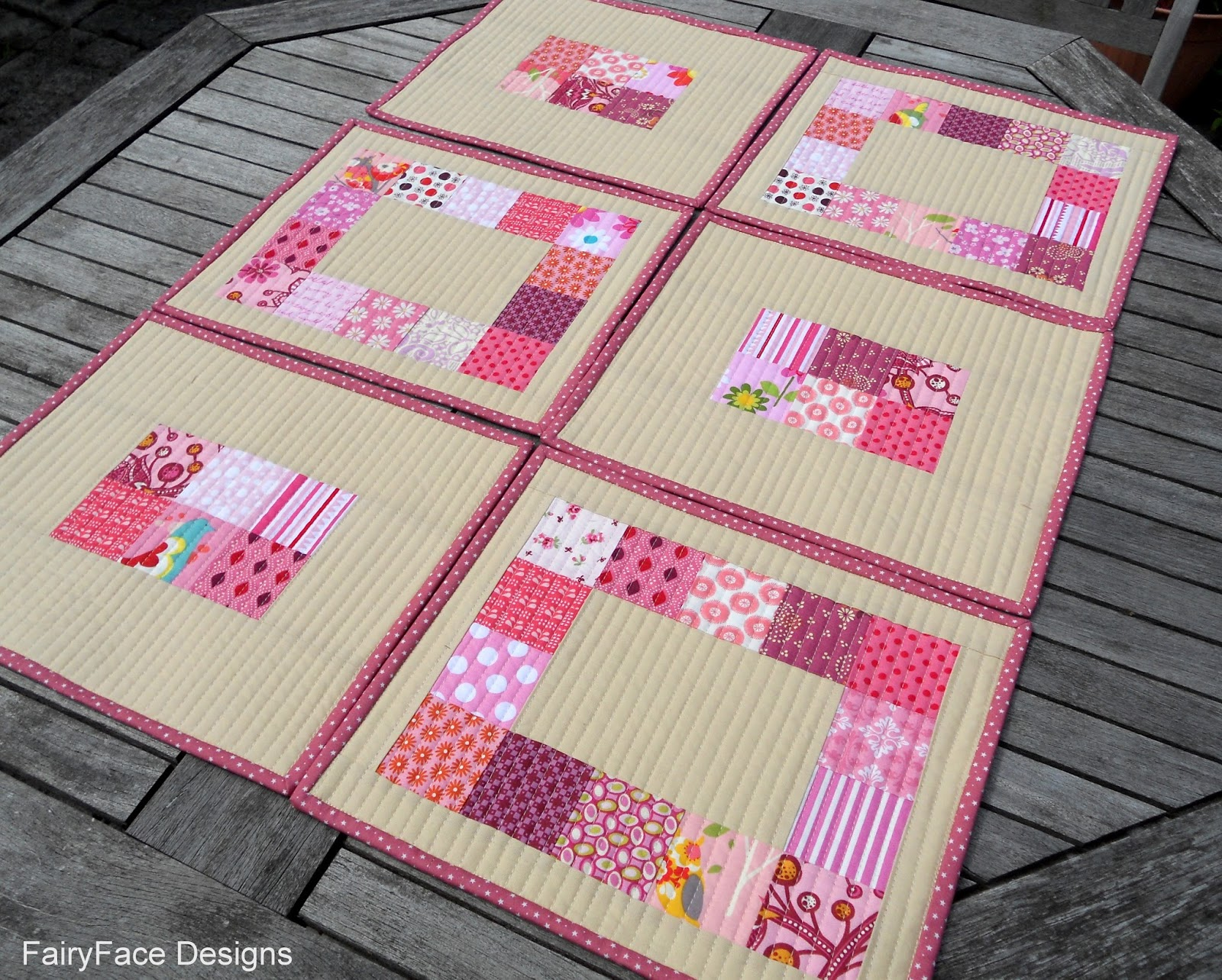 FairyFace Designs: {Easy Peasy} Quilted Placemats Tutorial : easy quilted placemat patterns - Adamdwight.com
