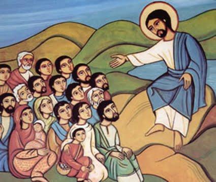 Imagini pentru ISUS PREDICA DE PE MUNTE