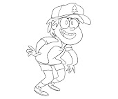 #5 Dipper Pines Coloring Page