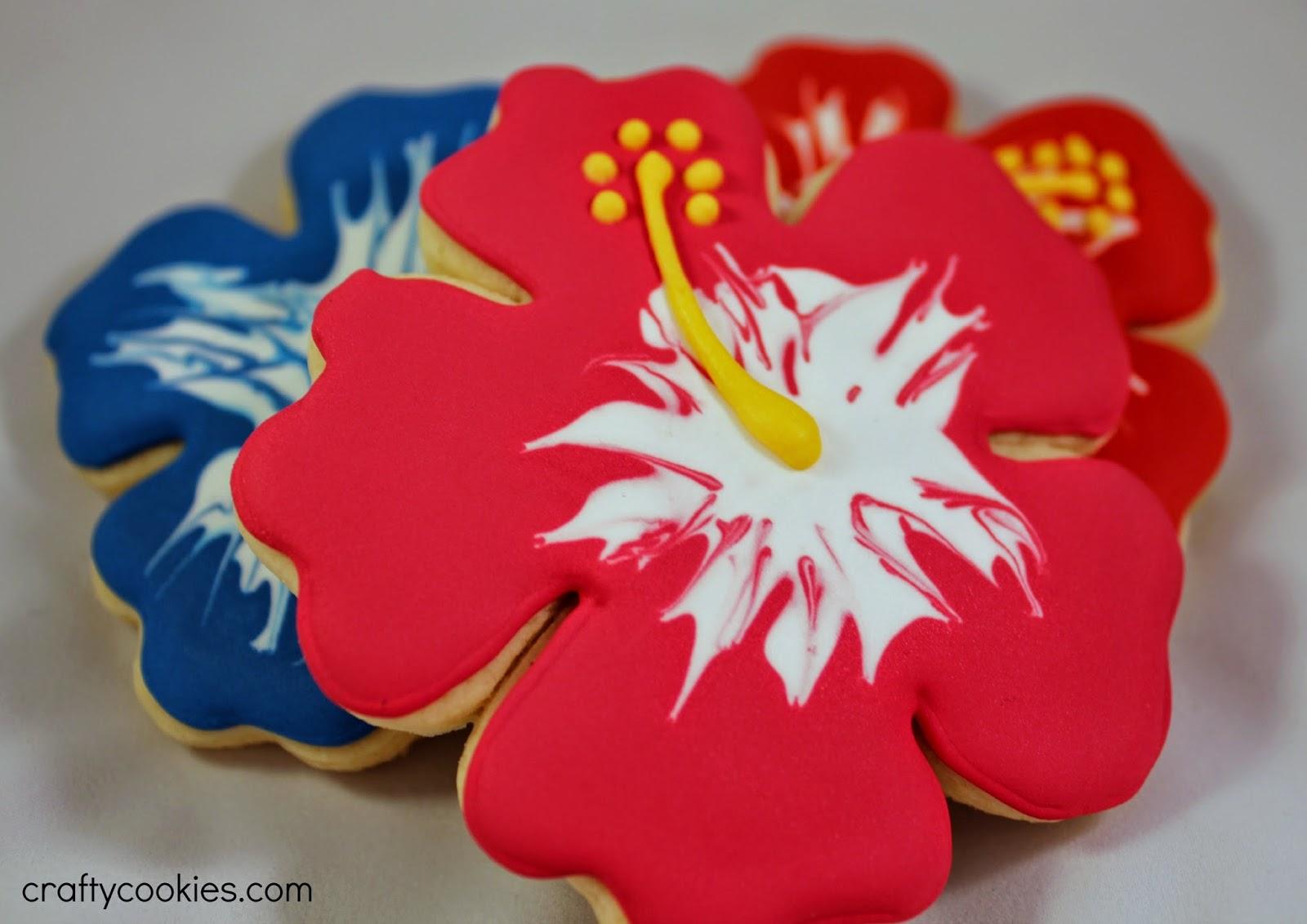 Crafty cookies easy hibiscus flower cookies easy hibiscus flower cookies izmirmasajfo