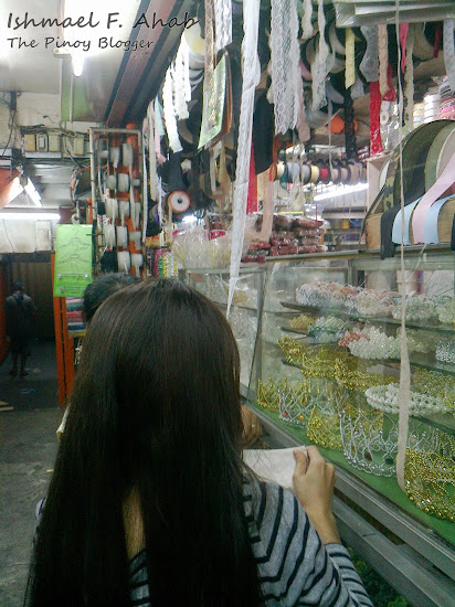 Shopping for lace in Divisoria