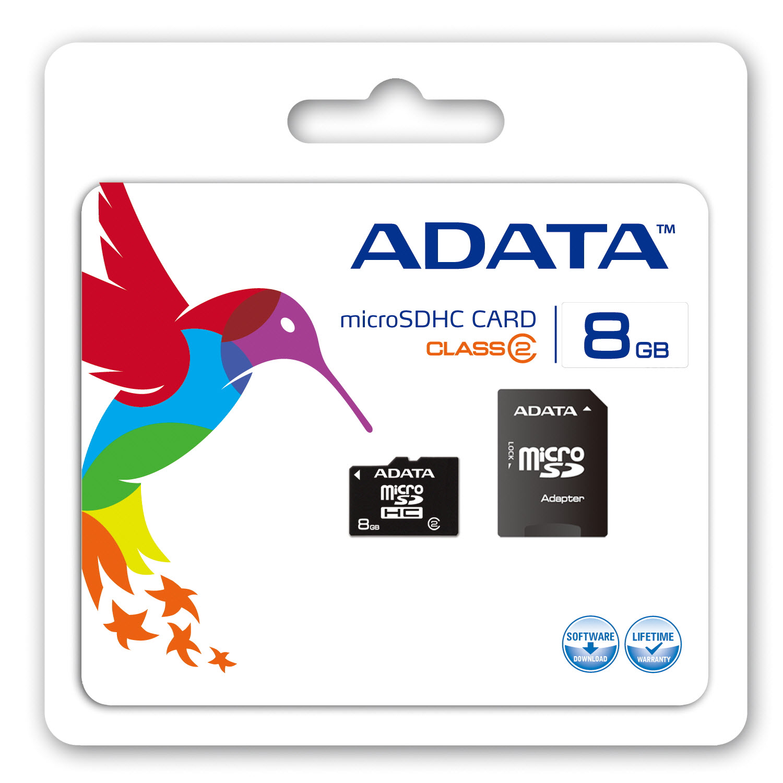 tarjetas de memoria adata