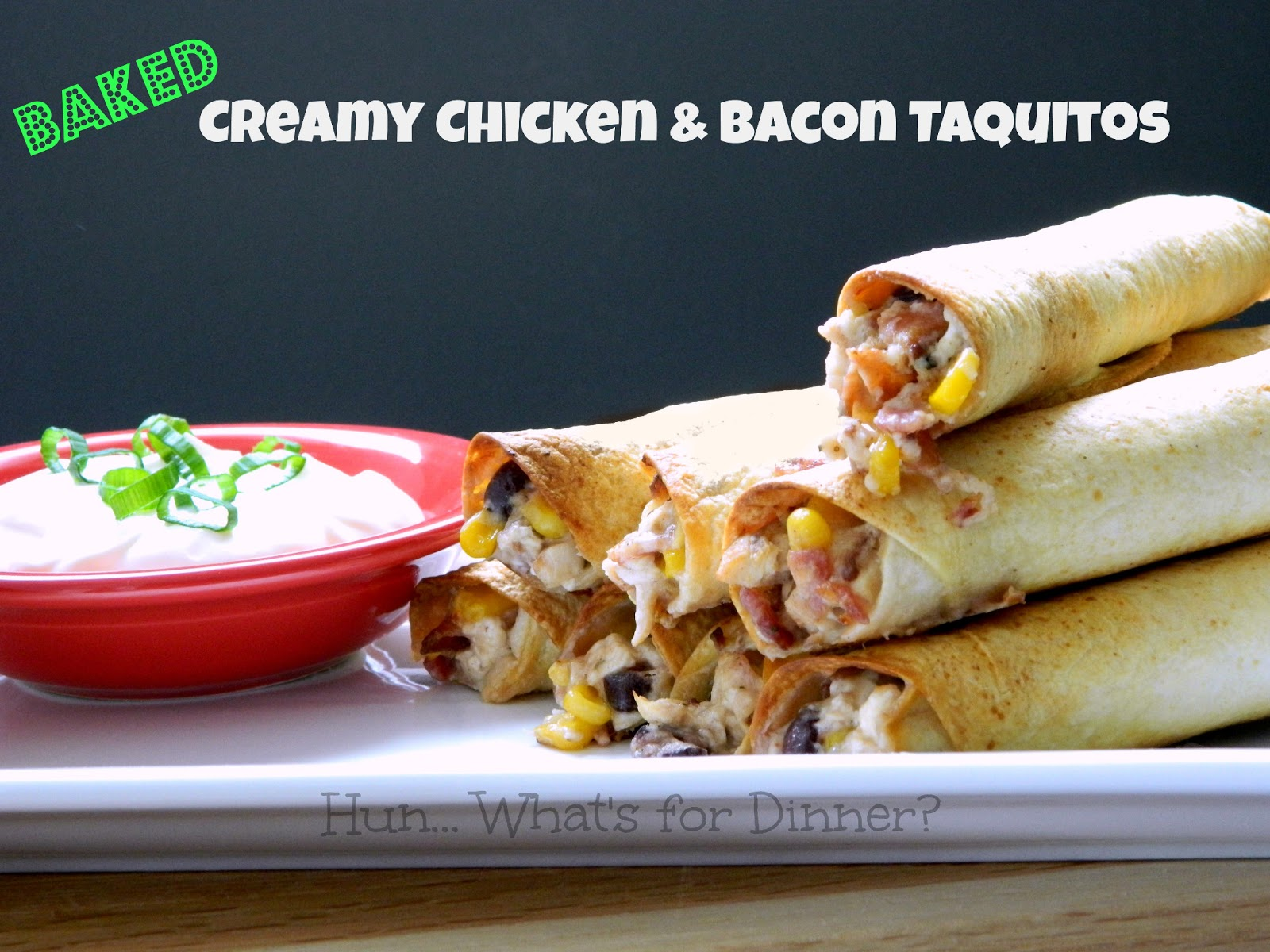 ... for Dinner?: Baked Creamy Chicken & Bacon Taquitos~ #SupriseRecipeSwap
