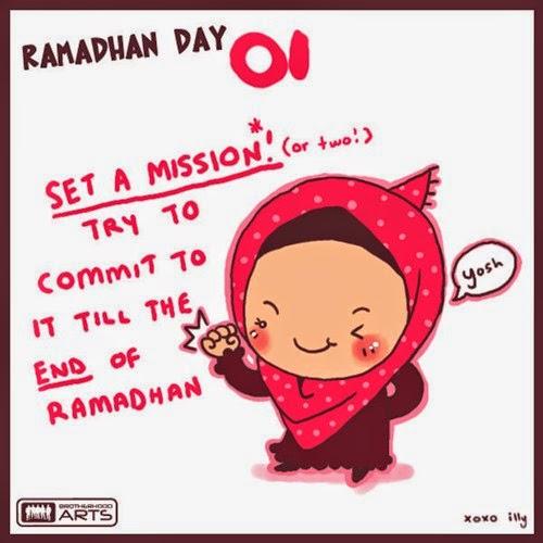 gambar kartun ramadhan lucu