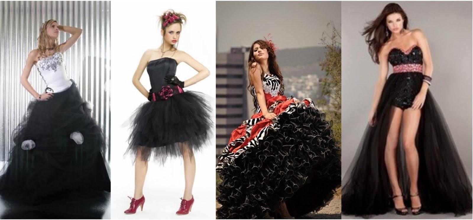 Traje Baño Hombre Antiguo:Mujeres Moda y Belleza: Vestidos negros para celebrar los 15 años de