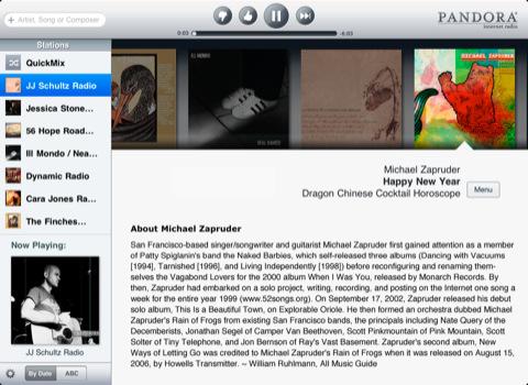 Pandora iPad app
