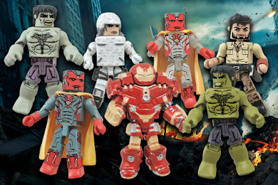 "Marvel's Avengers: Age of Ultron Marvel Minimates Series 2 - Hulkbuster Iron Man, ""Rampaging"" Hulk, Hulk, Ulysses Klaue, The Vision, Hydra Soldier & ""Phasing"" Vision"