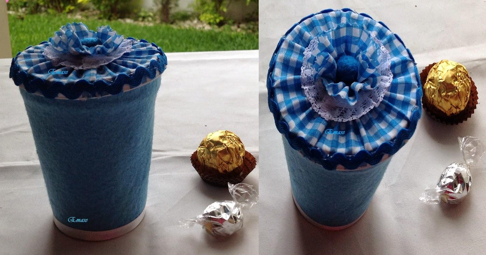Como hacer dulceros con vasos de yogurt dulcero hecho - Vasos para yogurt ...