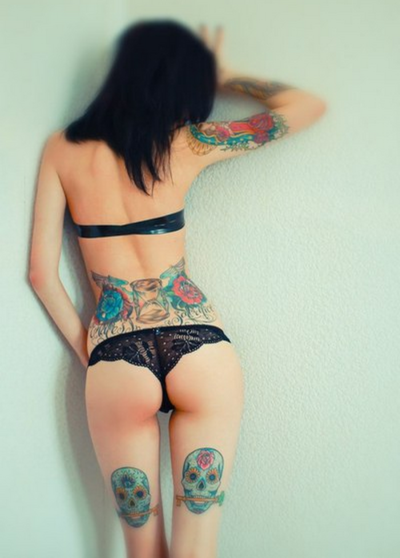 Butt Ass Back Leg Tattoo Designs
