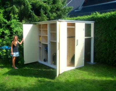 garten q moderne gartenh user gartenschr nke. Black Bedroom Furniture Sets. Home Design Ideas