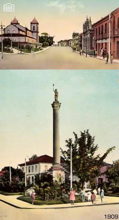 Praça da Liberdade e Igreja da Matriz de Barbacena