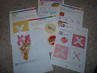 letter x worksheets