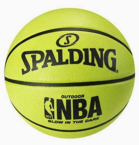 Spalding Glow in the Dark Outdoor Rubber Basketball - Size 6