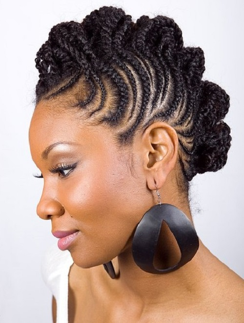 Sexy Braided Mohawk Hairstyles for Black Women