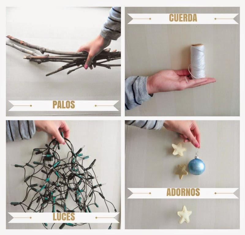Como hacer árbol navidad palos