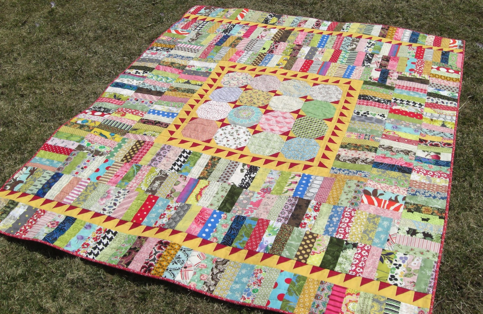 Selvage blog new sunshine quilt pattern for Scrap quilt