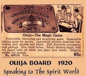 origin and supernatural beliefs associated with ouija Mainstream religions and some occultists have associated use of the ouija board with the threat of demonic possession and some have cautioned their followers not to use ouija boards while ouija believers feel the paranormal or supernatural is responsible for ouija's  murch, r, a brief history of the ouija board, fortean times, no249.