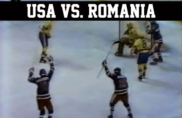 Lake Placid 1980 Olympic Winter Games Miracle on Ice USA vs. Romania