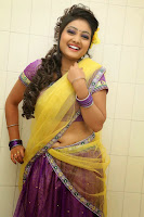 TV Anchor Priyanka in Half Saree Navel Show still-6