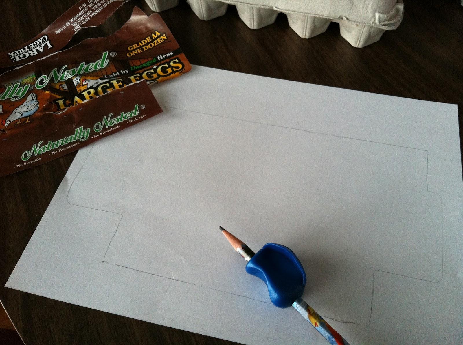 The contemplative creative egg carton snack box for Egg carton labels template