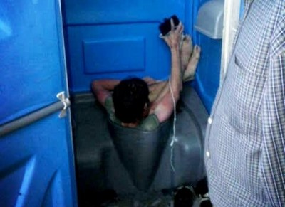 Man Found Stuck In A Toilet Bowl