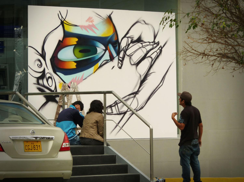 Jade da2c pintura para el banco continental for Banco continental oficina principal