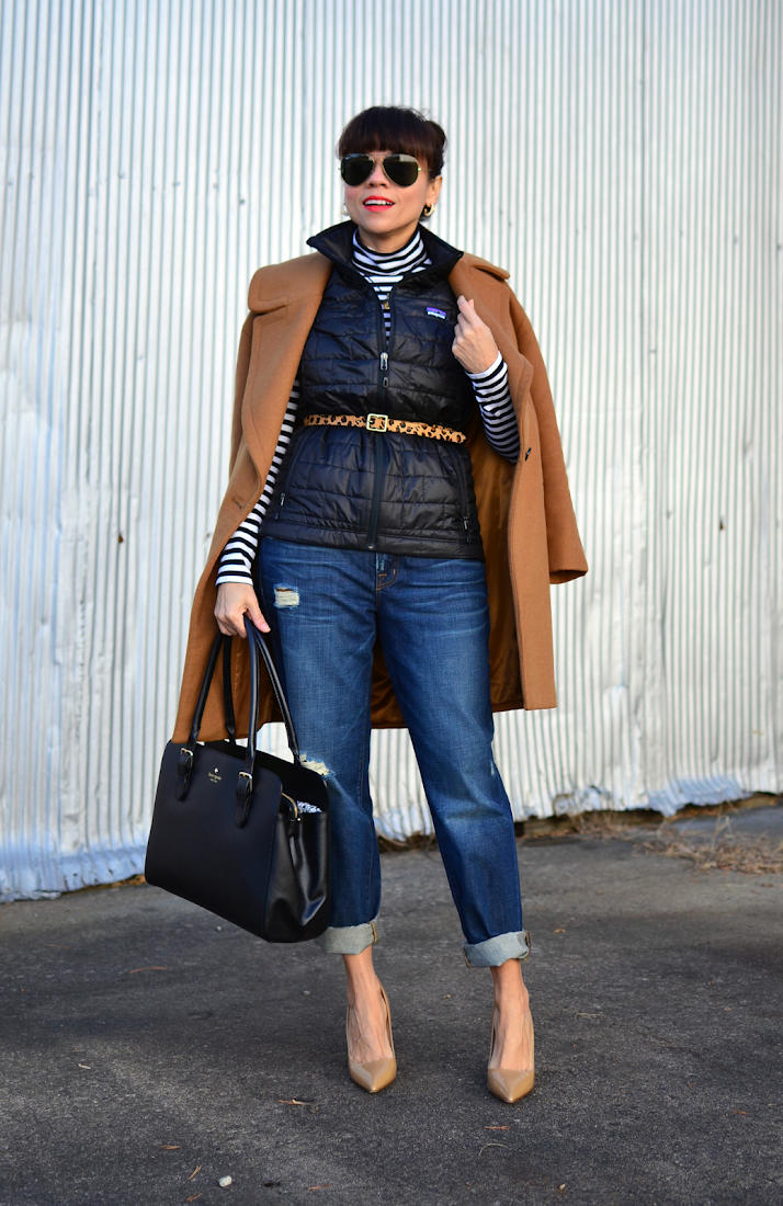 Boyfriend jeans with pumps