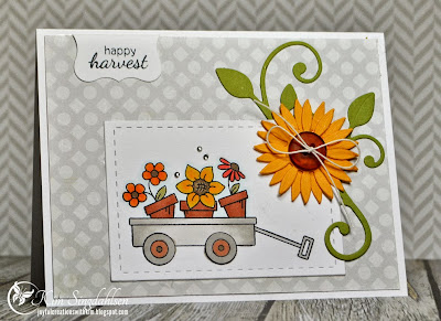 A sunny Fall Wagon Card by Kim Singdahlsen for Newotn's Nook Designs