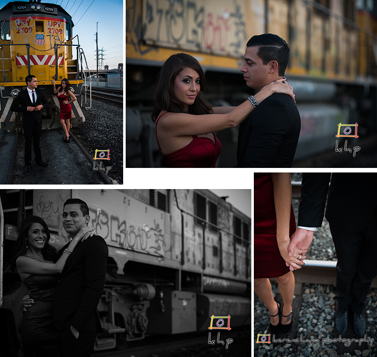 Engagement Session under the 1st Street Bridge in Downtown Los Angeles